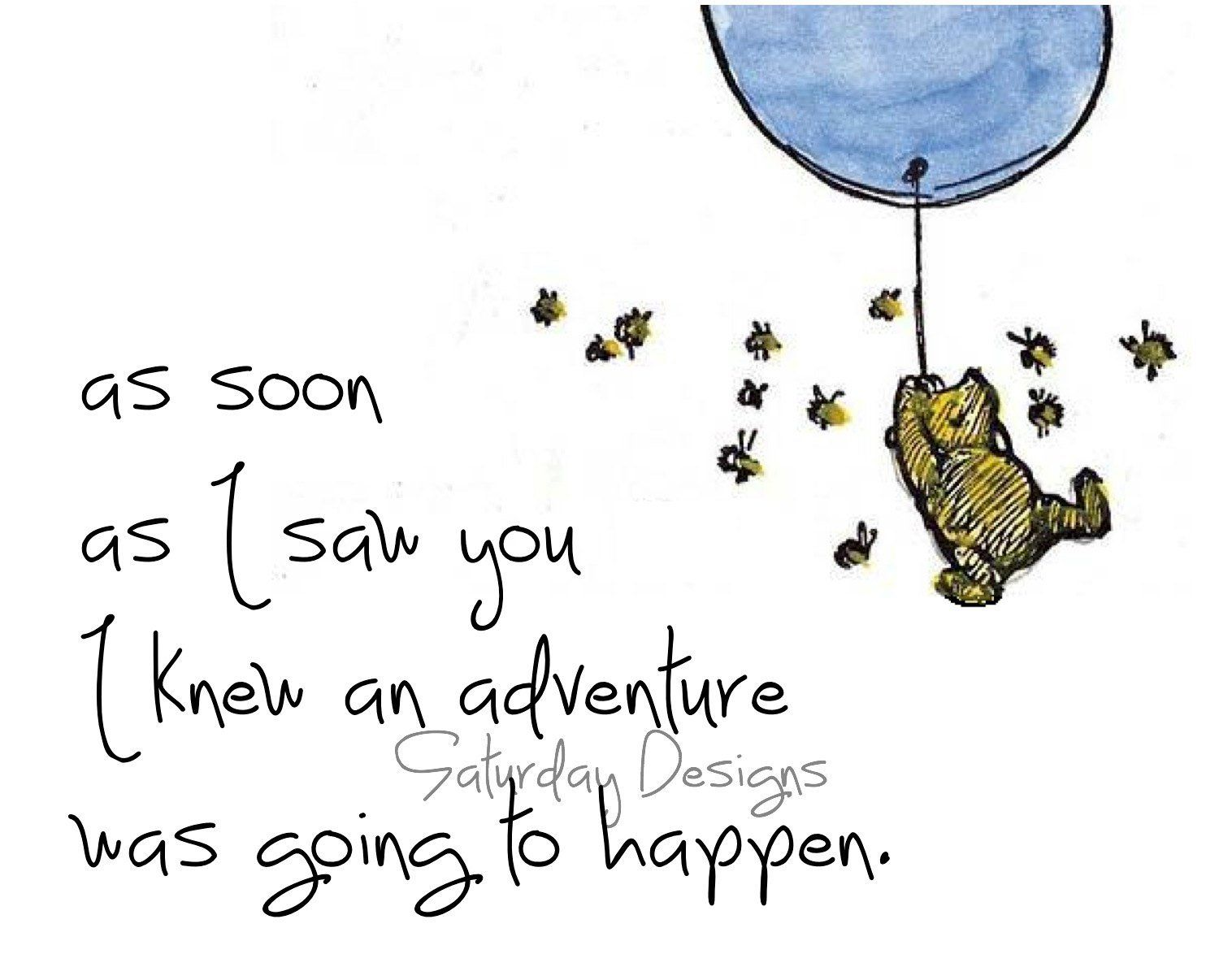 Winnie The Pooh Quotes About Life Adventure Quote From Winnie The Pooh  Digital Download Printable