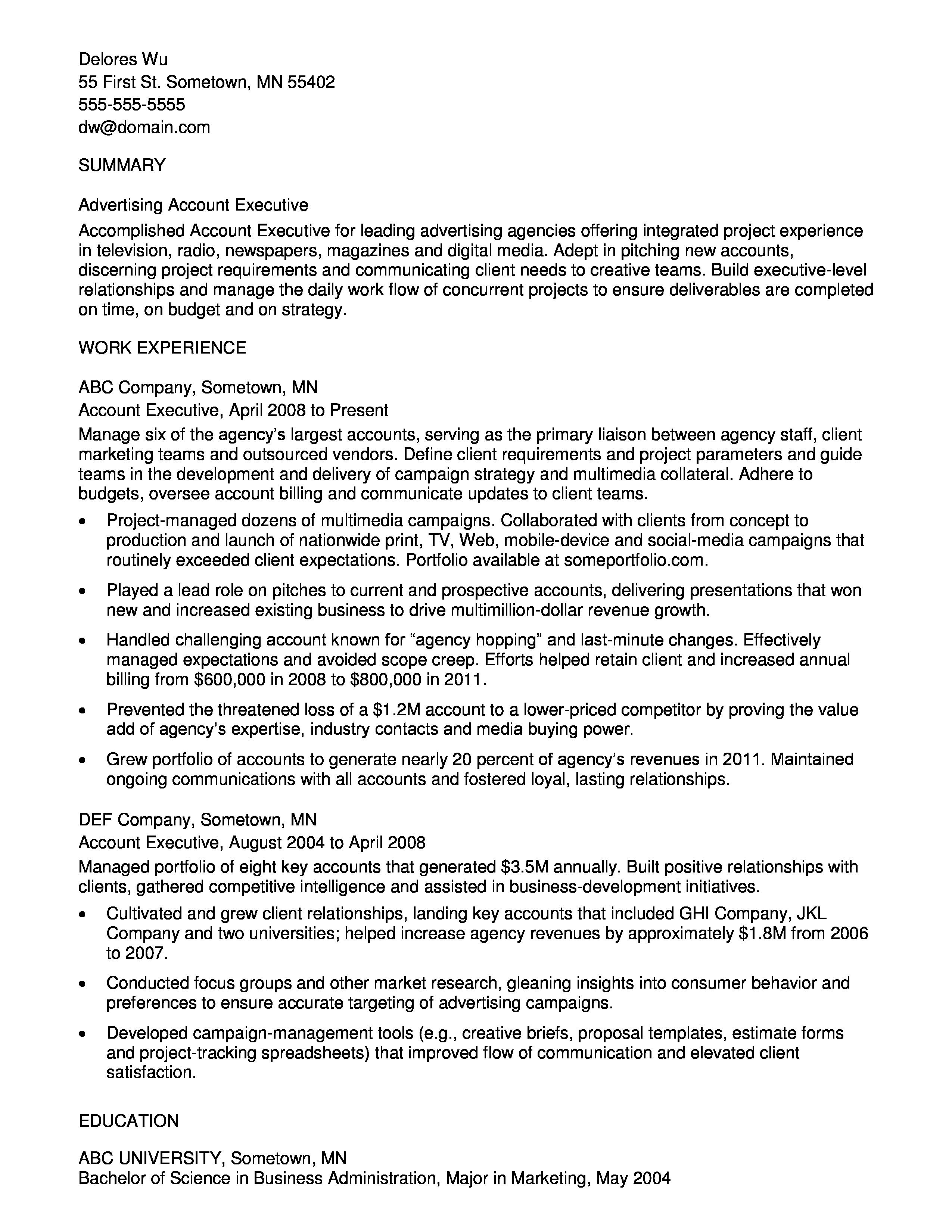 Example Of Resume Objective For Sociology Major  Resume Template