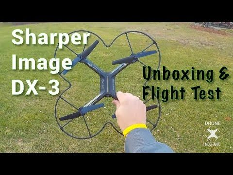 Unboxing And Flight Test Of The Sharper Image Dx 3 Quadcopter This