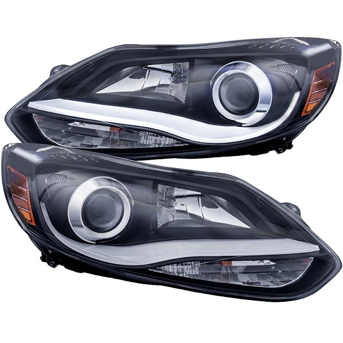 12 14 Ford Focus Focus St Anzo Plank Style Projector Headlights Black Ford Focus Projector Headlights Headlights