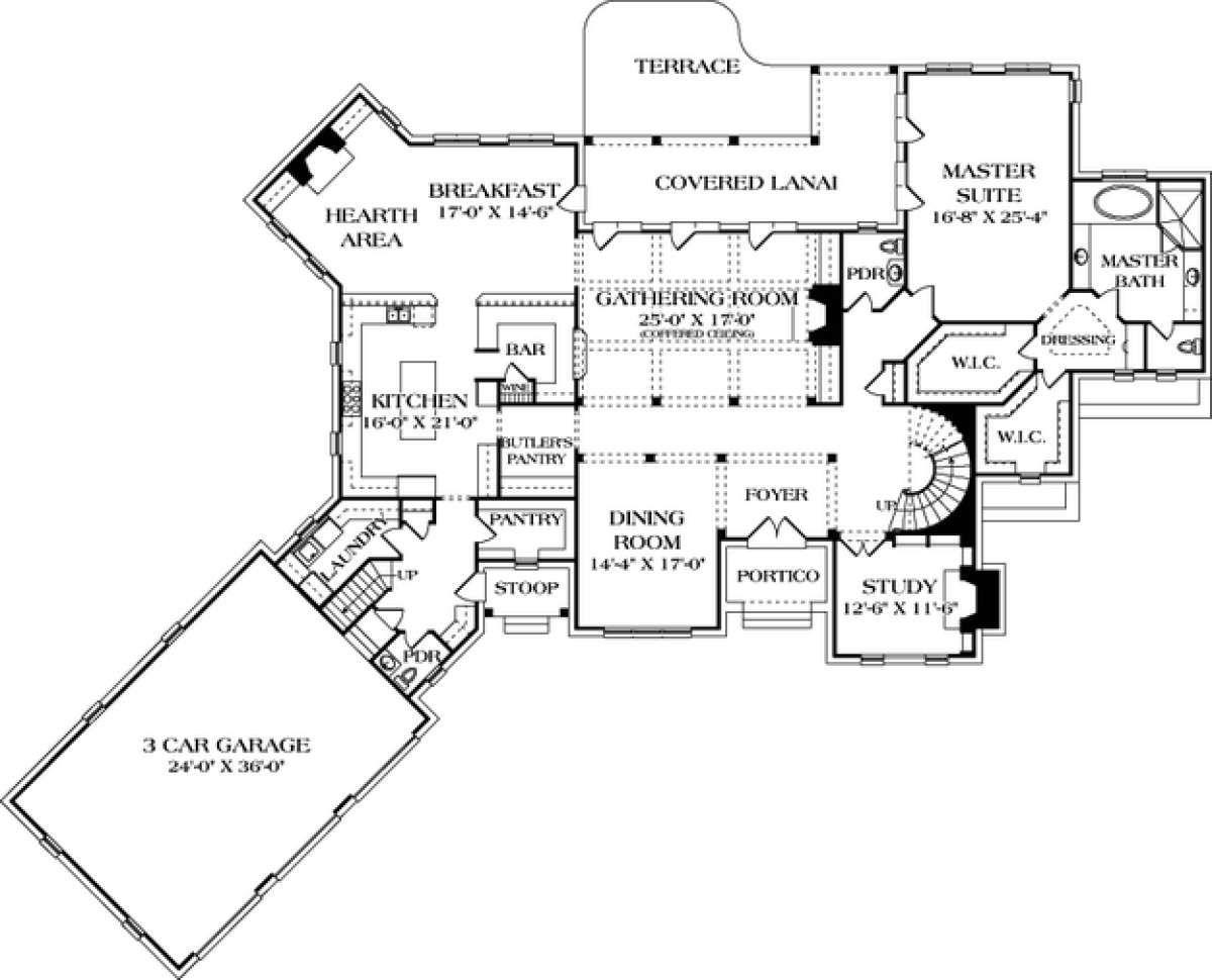 House Plan 3323 00510 European Plan 5 409 Square Feet 4 Bedrooms 5 Bathrooms European Plan Floor Plans House Plans
