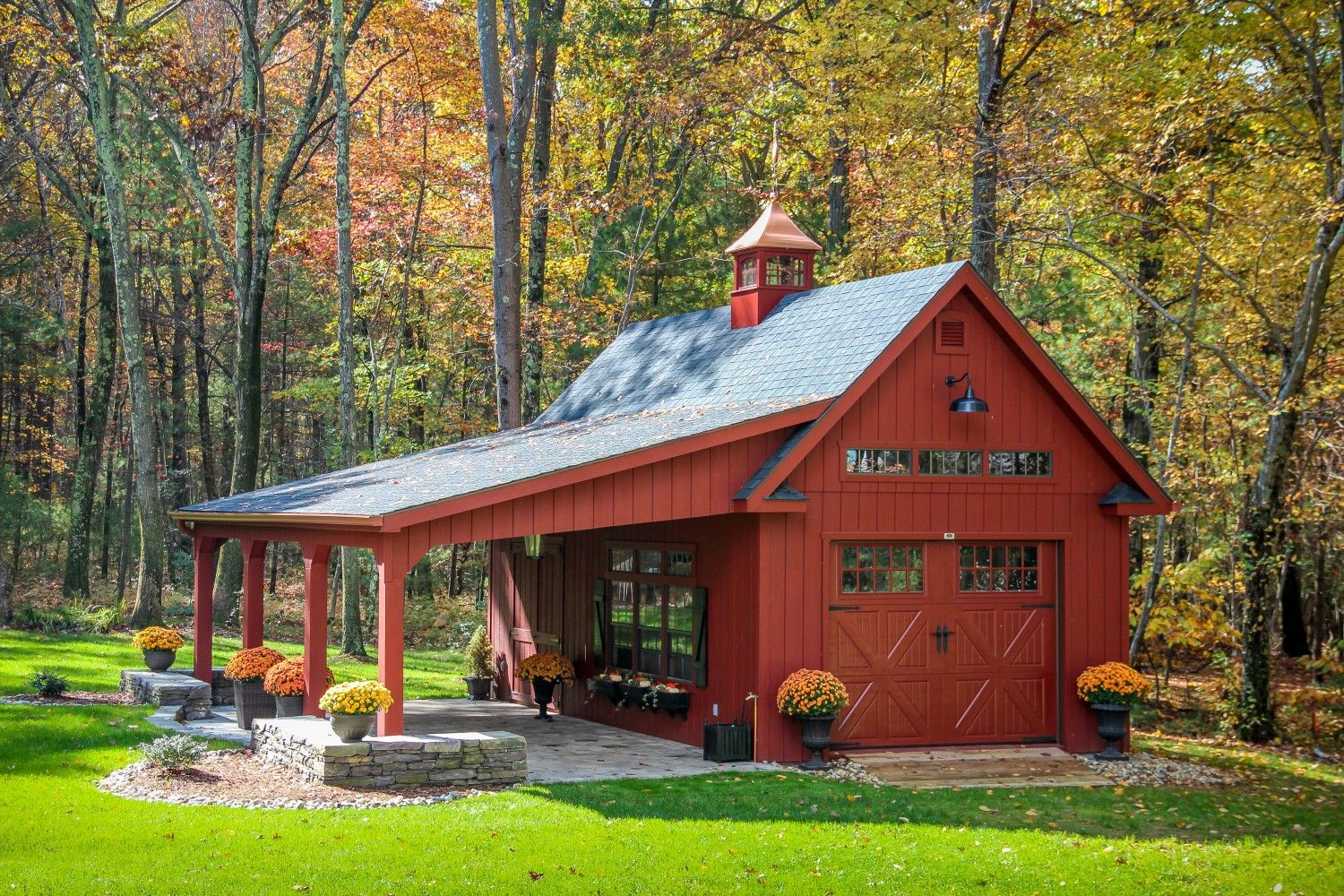 Grand victorian sheds storage buildings garages the for Small metal barn homes