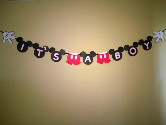 It S A Boy Mickey Mouse Banner Perfect For By Simplycelebrate2day