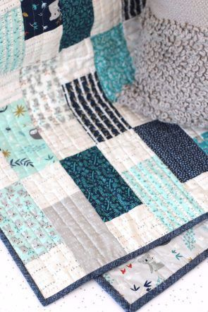 Bricks Baby Quilt Tutorial | Diary of a Quilter - a quilt blog