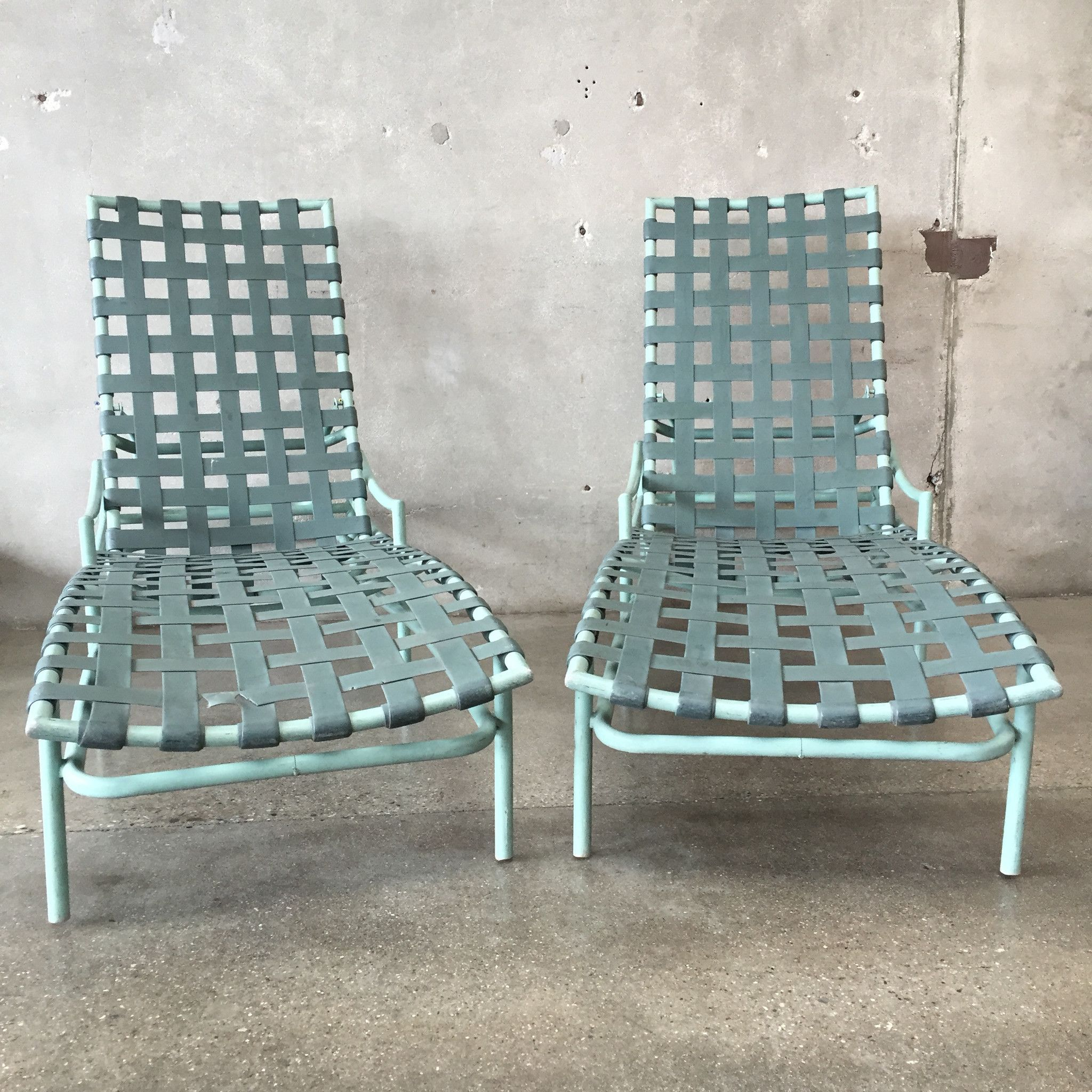 Pair Of Tropitone Patio Chaise Lounge Chairs 1954