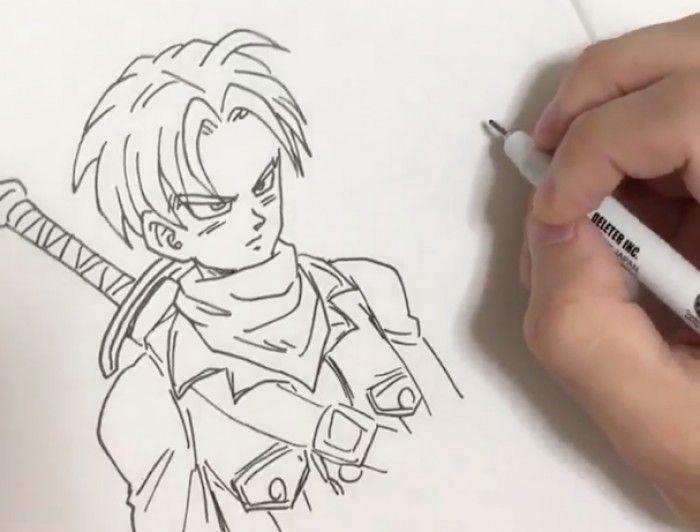 Dessiner Dragon Ball Trunks Au Feutre Neopiko Line 3