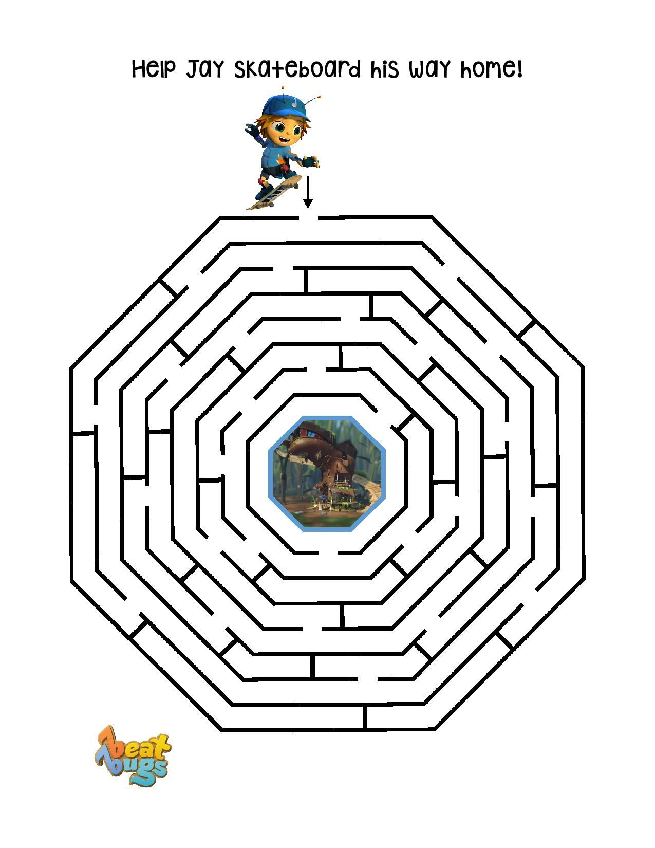 Help Jay Make His Way Home With This Fun Beat Bugs Maze