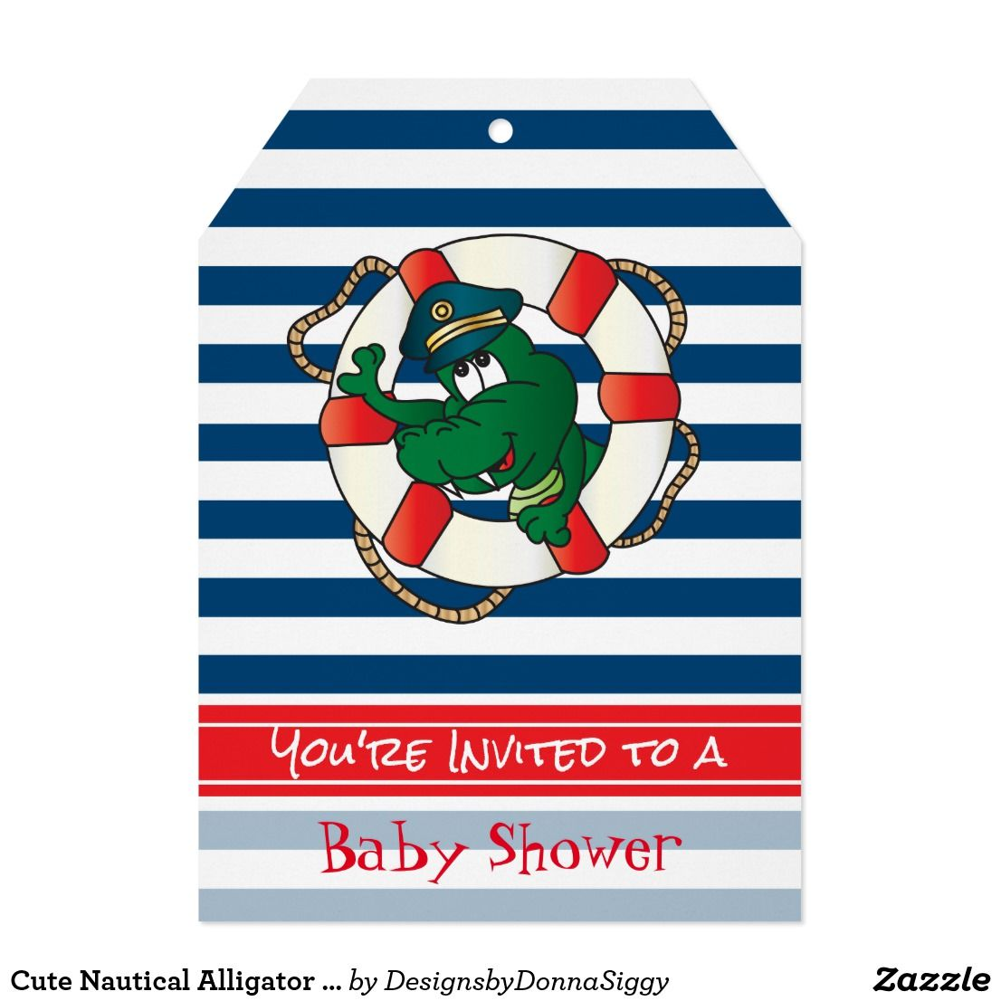 Cute Nautical Alligator Baby Shower Theme | Baby Shower Invitations ...