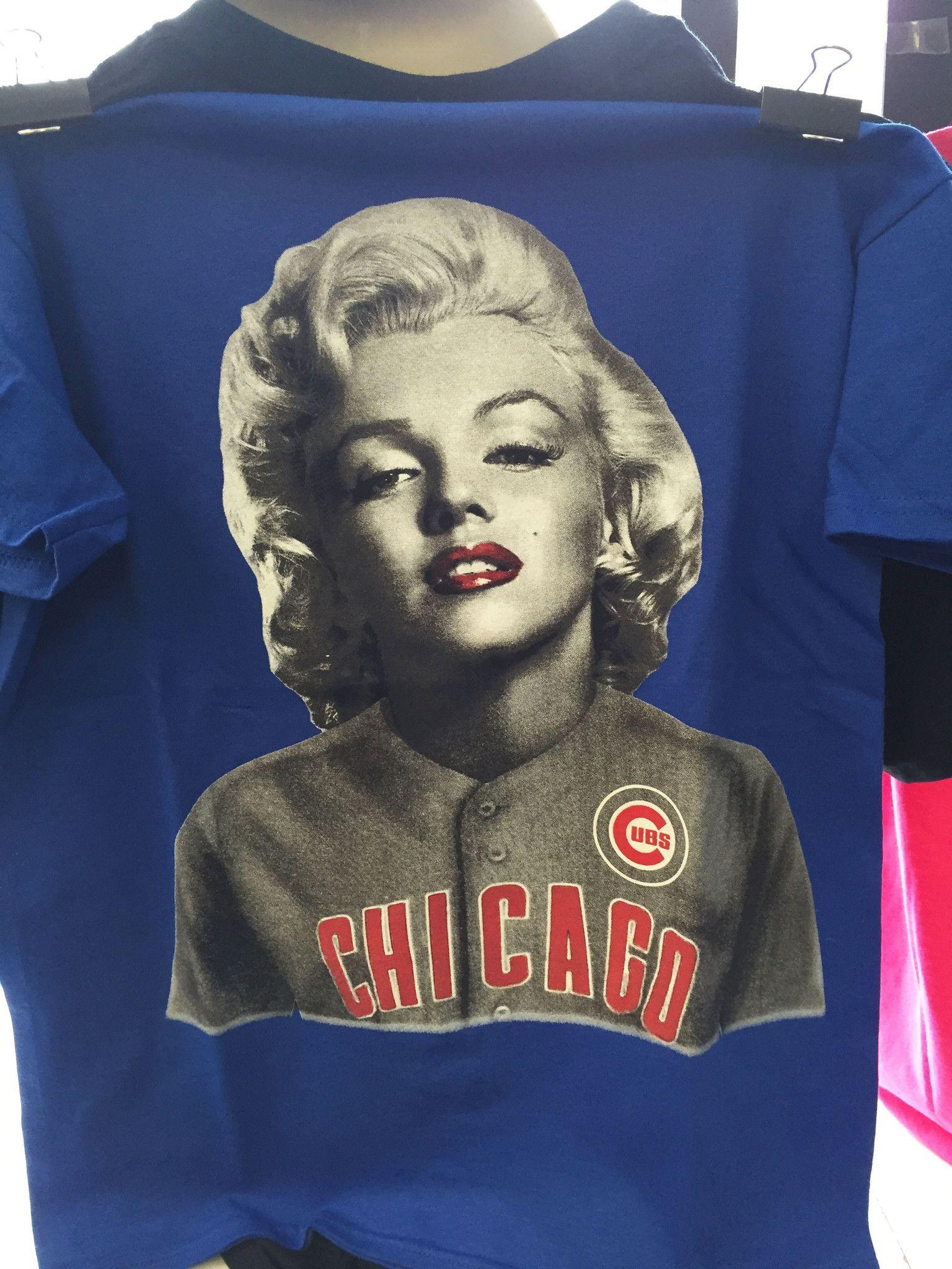 Marilyn Monroe Chicago Cubs T Shirt