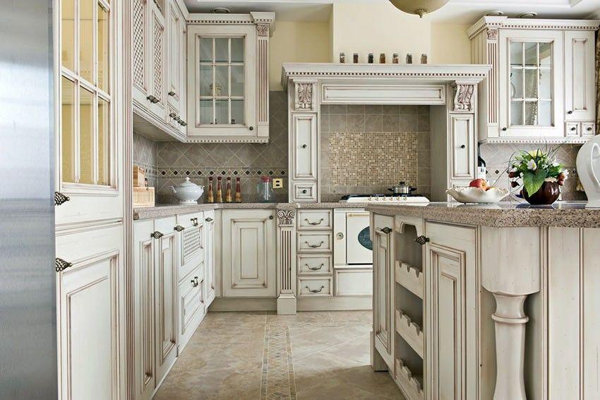 27 Antique White Kitchen Cabinets [Amazing Photos Gallery   Antique ...