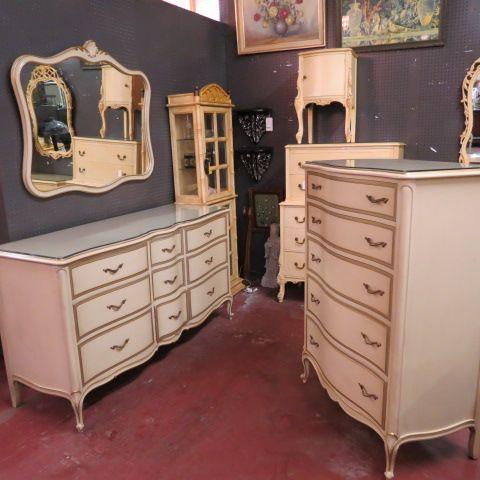 inspiring hollywood bedroom furniture set   SOLD Vintage antique French style #bedroom set by Drexel ...