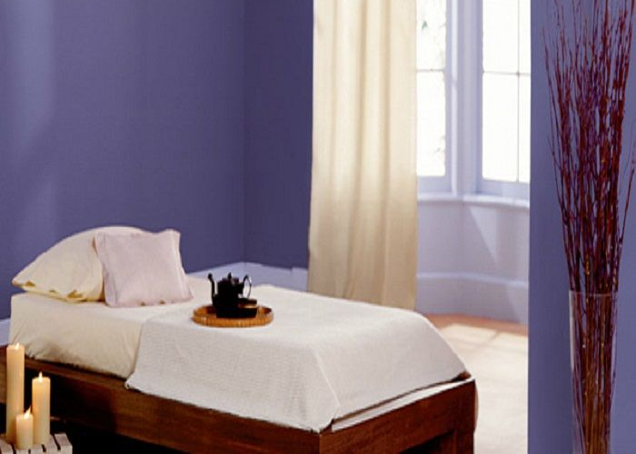 Simple Behr Violet Bedroom Wall Painting Designs | Paint Colors