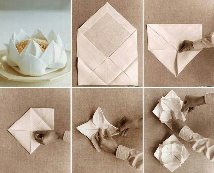 Flor de lotus con servilleta decoraci n hazlo t mismo - Origami con servilletas ...