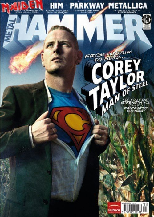 COREY TAYLOR ON THE COVER OF METAL HAMMER