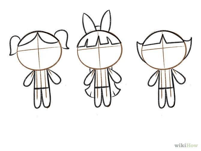 How to draw powerpuff girls dibuixem les supernenes
