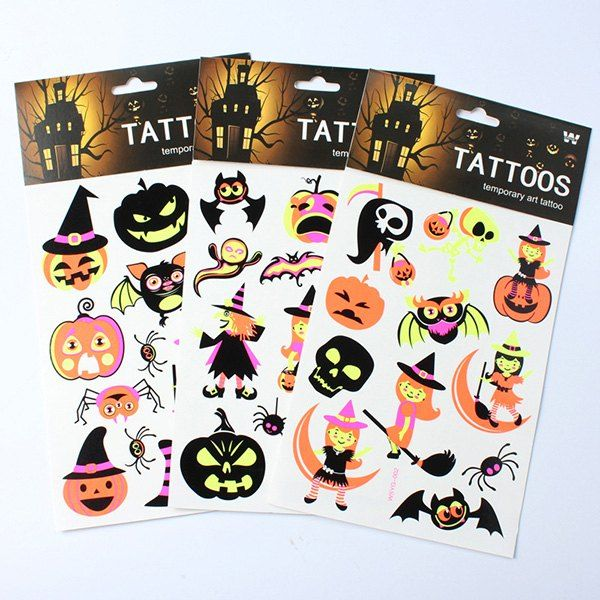 Halloween Party Supplies 3PCS Luminous Sticker Decoration - halloween decorations party