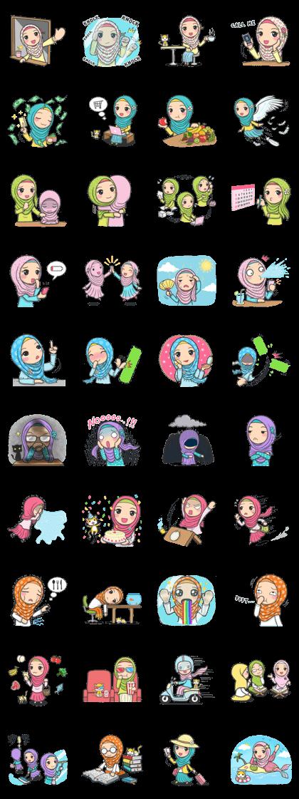 Flower Hijab 3 Stiker, Komik lucu, Lucu