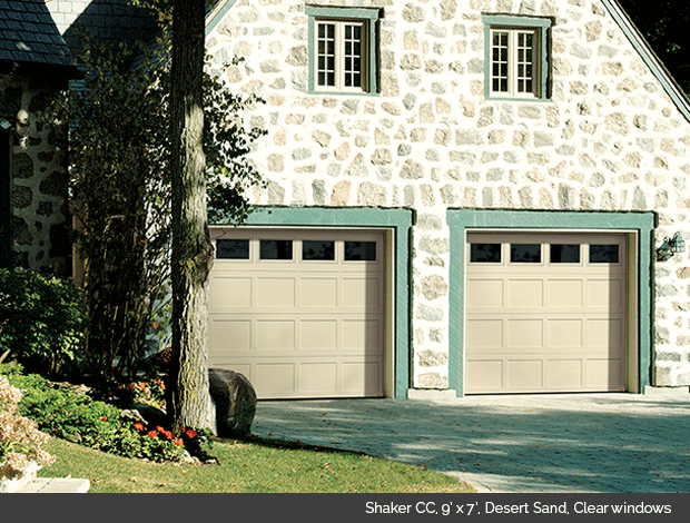 Garaga Garage Door Shaker Cc 9 X 7 Desert Sand Clear Windows