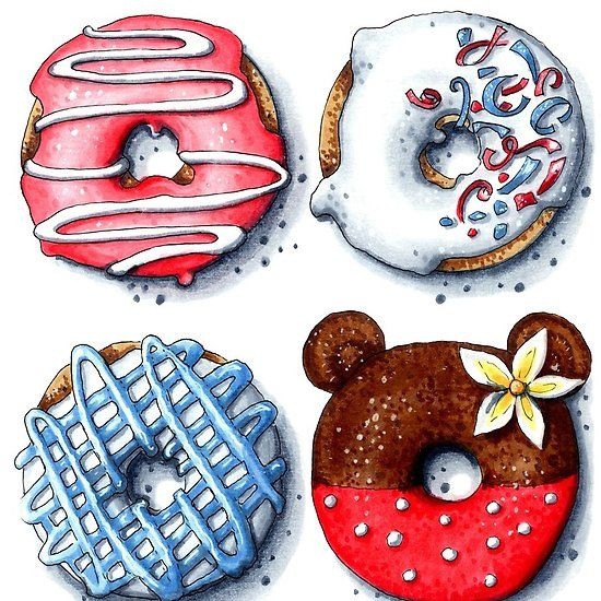 Piggieluv Galaxy Donuts Nail Art: Mmmmh SWEET Donuts (с изображениями)