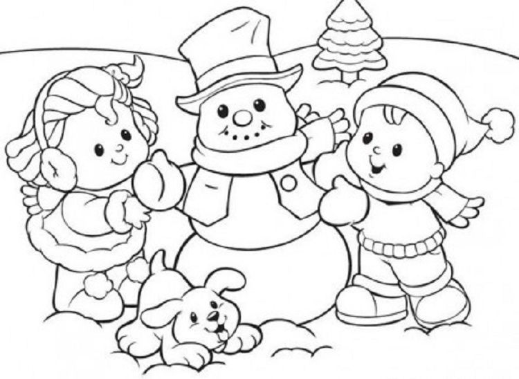 Snowman Coloring Page Preschool Snowman Coloring Pages Coloring