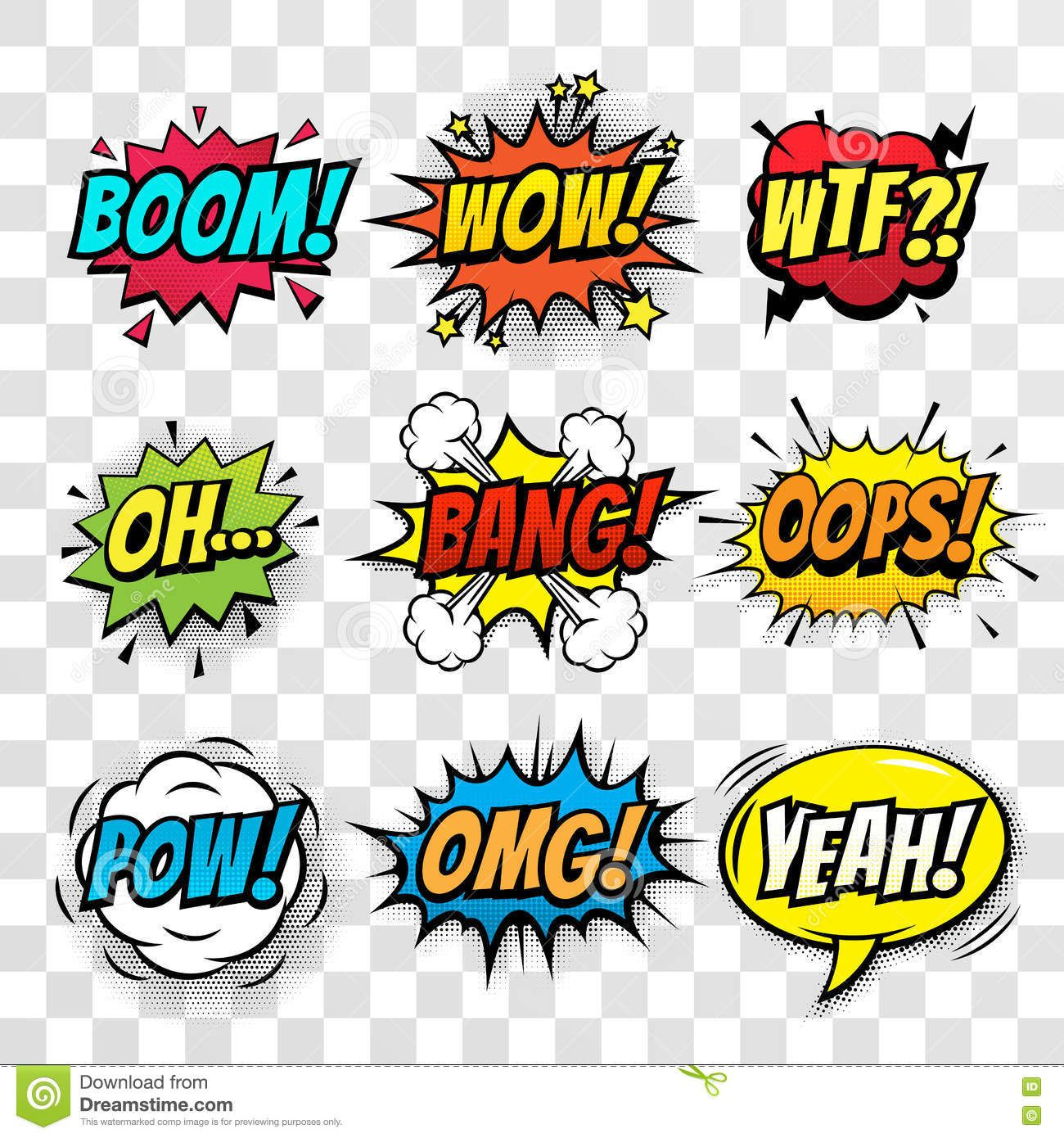e586a88188762 Vector Comic Speech Bubbles Set With Words - Download From Over 65 Million  High Quality Stock Photos, Images, Vectors. Sign up for FREE today.