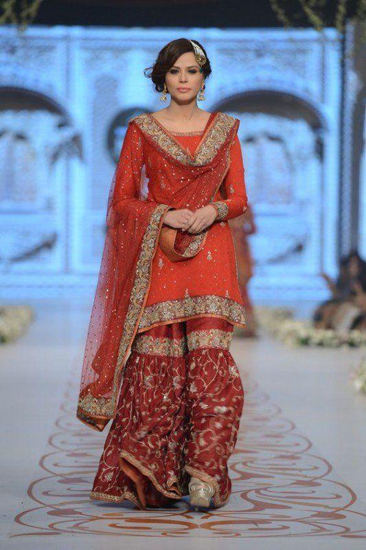 Sharare Pakistni Dresses 2015 Brides