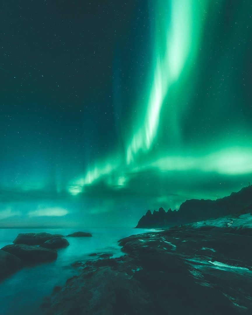 NATURE LANDSCAPE AURORA BOREALIS NORTHERN LIGHTS POSTER ART PRINT BB1410A