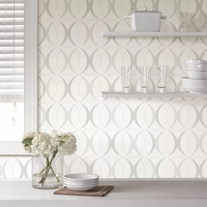 Cochranville 18 X 20 5 Light Silver Wallpaper Roll Peel And Stick Wallpaper Silver Wallpaper Nuwallpaper