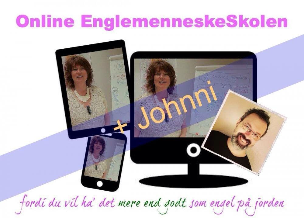 'EnglemenneskeSkolen + Johnni' - et unikt onlineprodukt med personlig sparring og rådgivning fra Johnni til hvert moduls, samt masser af kærlig udveksling og sjov med de andre studerende !