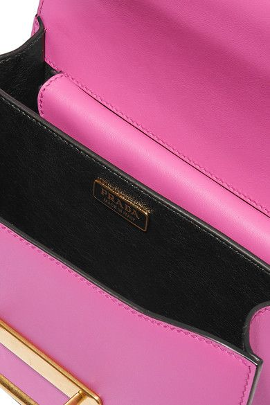 864ca54dc5cbd Prada - Cahier Small Two-tone Leather Shoulder Bag - Pink - one size ...