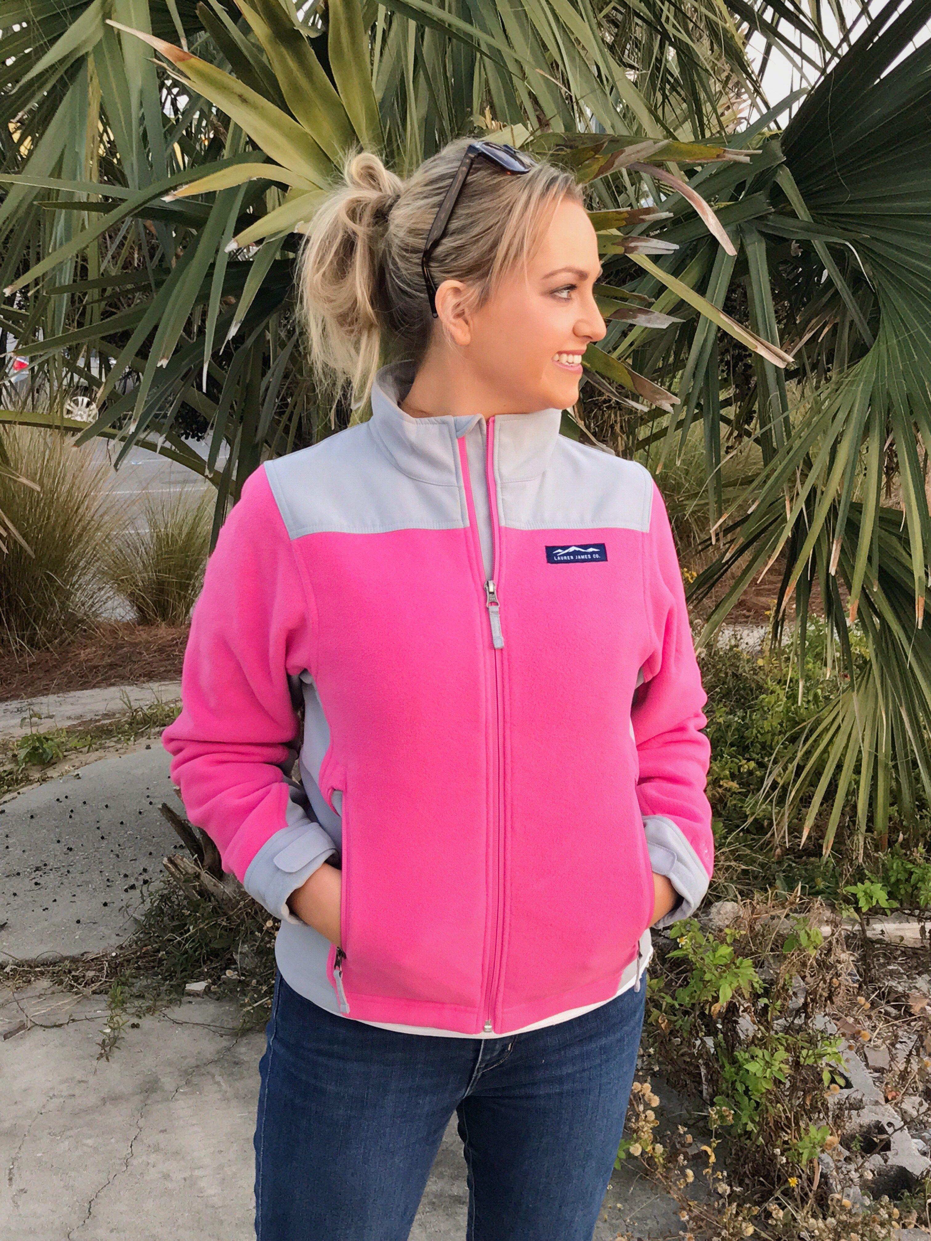 Lauren James pink fleece jacket