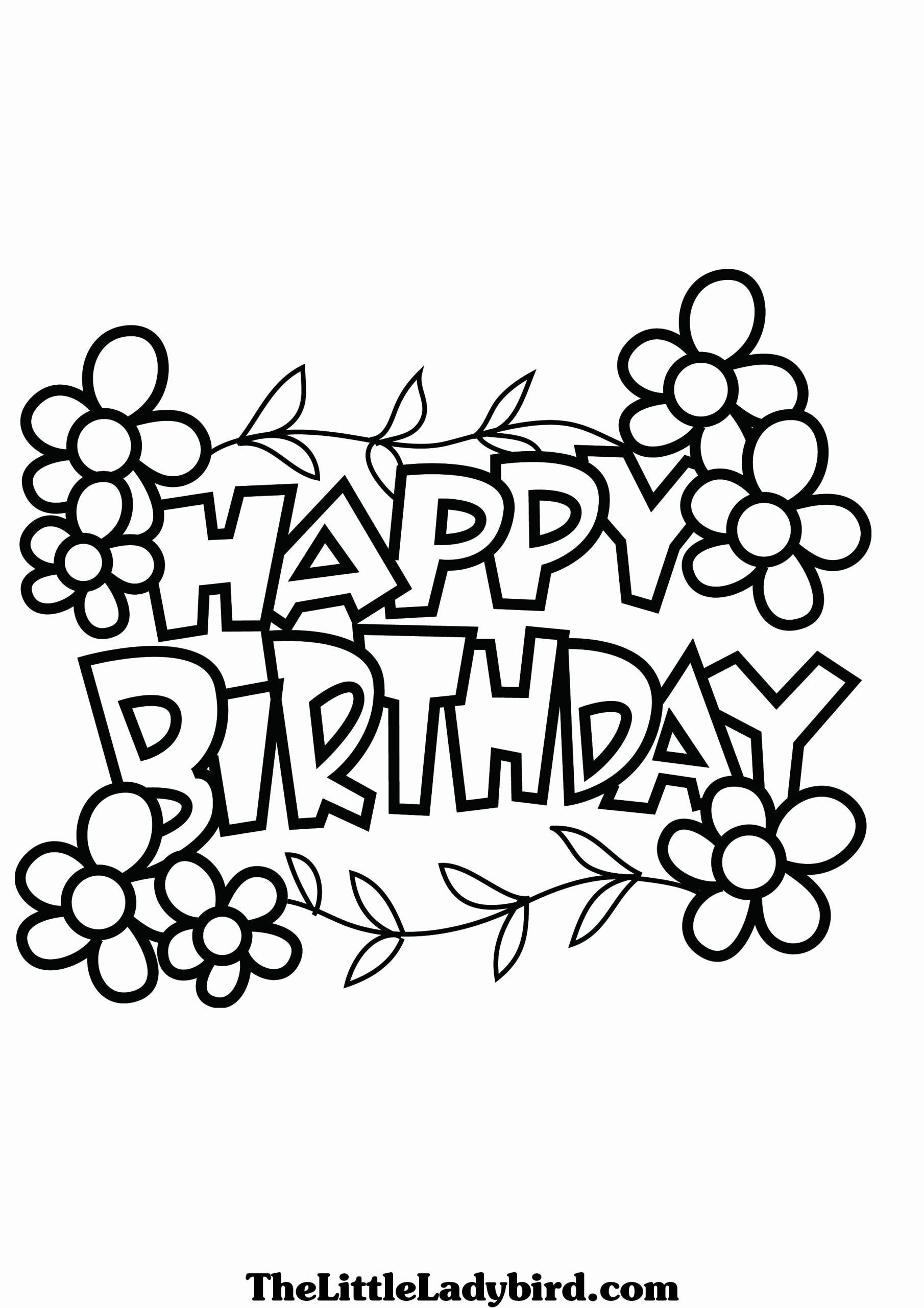 Happy Birthday Coloring Pages Luxury Happy Birthday Coloring Pages ...