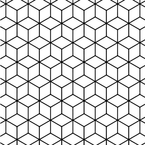 Geometric Tessellation With Rhombus Pattern Coloring Page Free Printable Coloring Pa Geometric Pattern Design Geometric Coloring Pages Pattern Coloring Pages