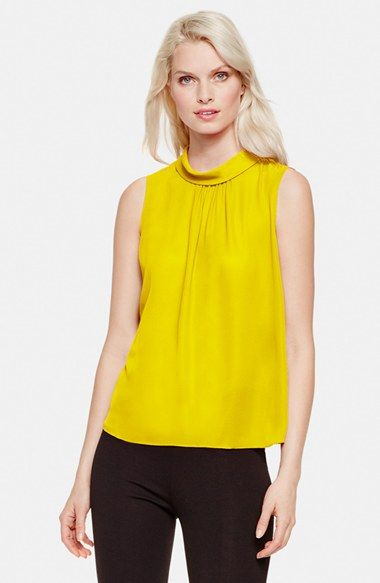 Vince+Camuto+Funnel+Collar+Sleeveless+Blouse+available+at+#Nordstrom