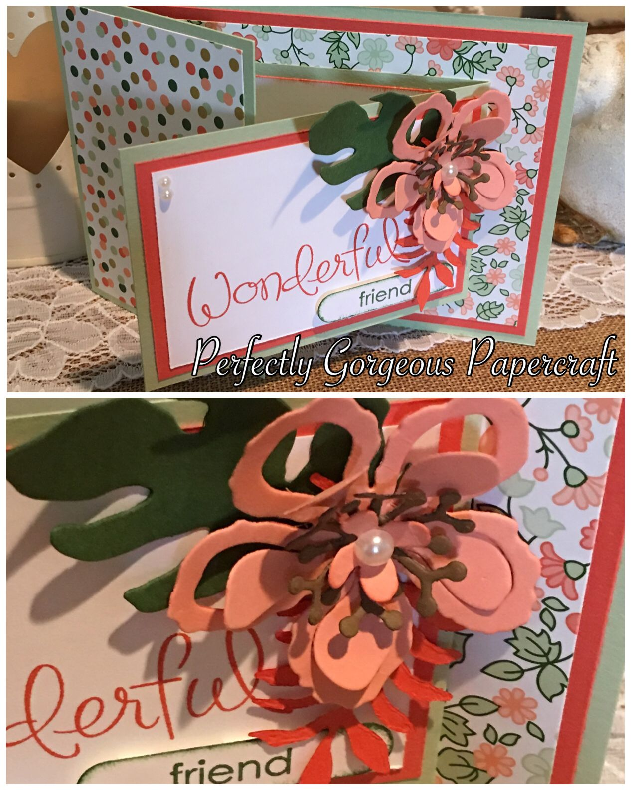 Created by Wendy at Perfectly Gorgeous Papercraft http://youtu.be/jK5fvNdCWHA