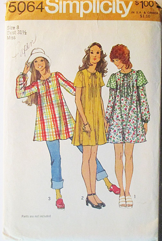 S sewing pattern simplicity misses minitent dress u tunic