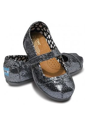 61de4eed93 TOMS Pewter Glitter Tiny Mary Janes $36 Available at ADANIAS Boutique  714.693.7677