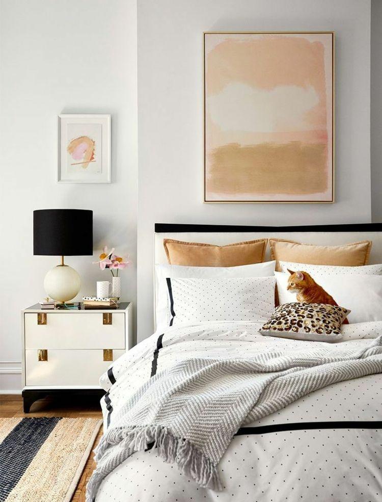 Schlafzimmer Trends Gold Beige Lachsfarbe Elegant Einrichten Notte