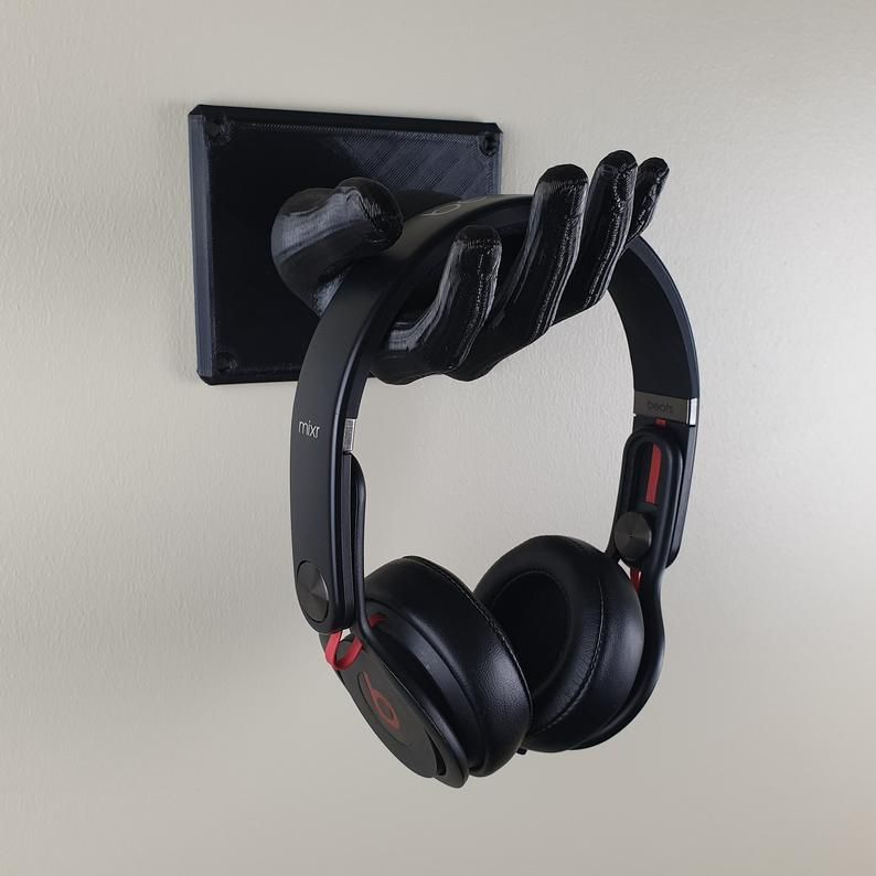 Headphone Stand Wall Mount Hand Headset Holder Sculpture Etsy In