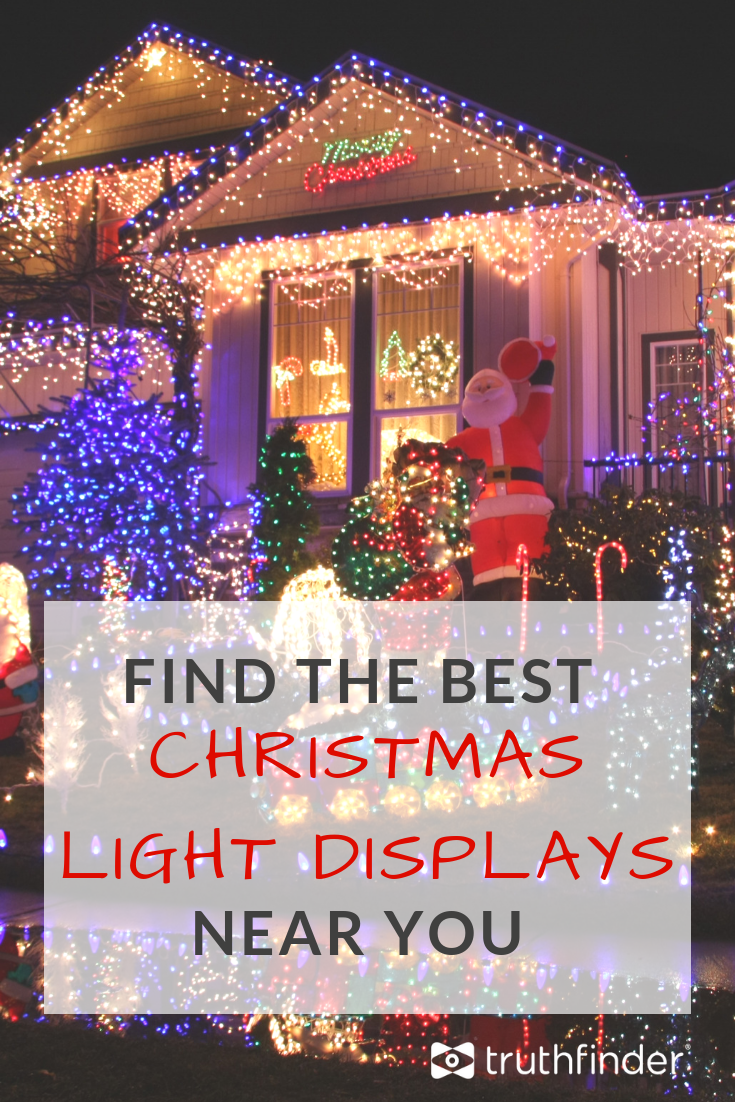 Find Christmas Light Displays Near You With This Interactive Map Christmas Light Displays Christmas Lights Light Display