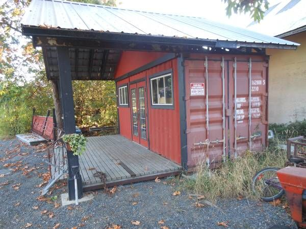 shipping container storefront | Shipping container sheds, Prefab shipping container homes, Container house