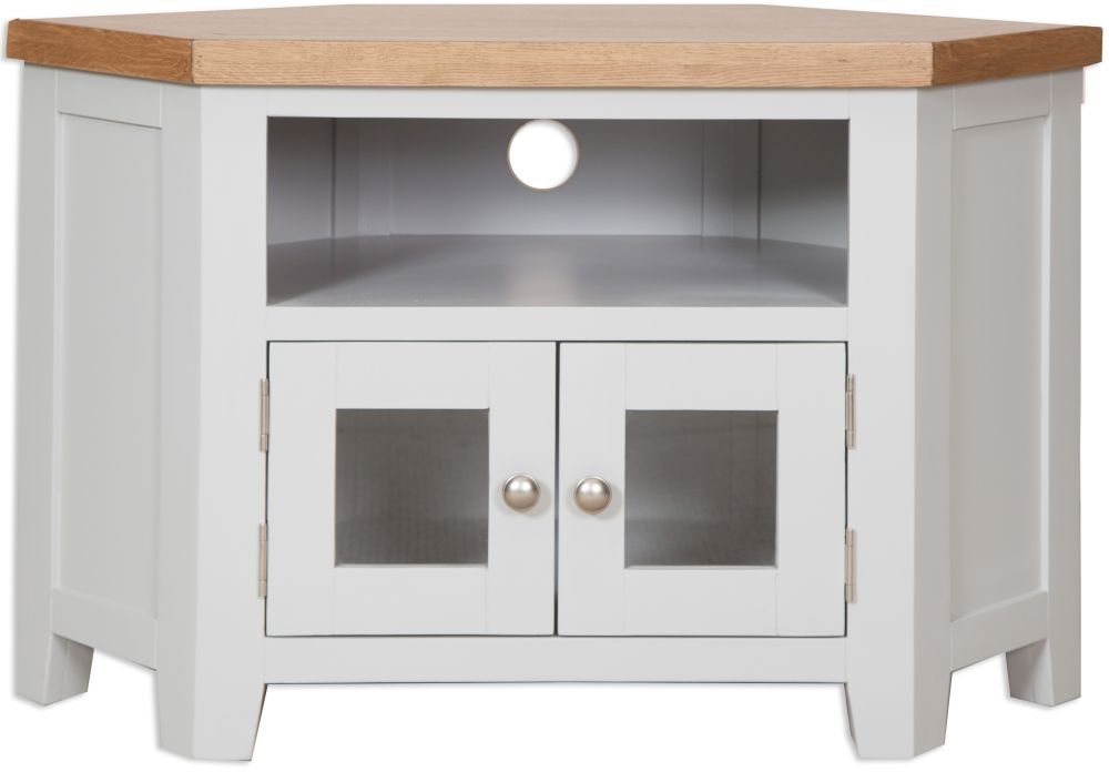 Perth Tv Cabinet Oak And French Grey