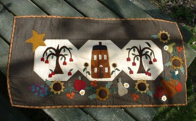 Country stitches wool applique harvest bounty wool applique