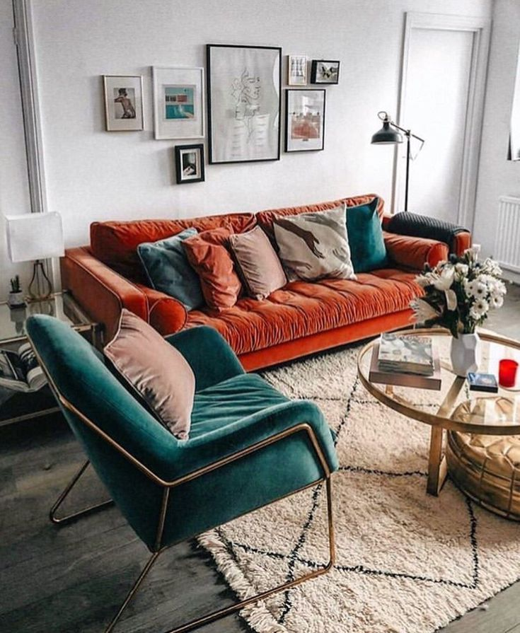 Photo of – A mix of mid-century modern, bohemian, and industrial interior style. Home and…