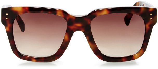 Linda Farrow Chunky Rectangular Sunglasses