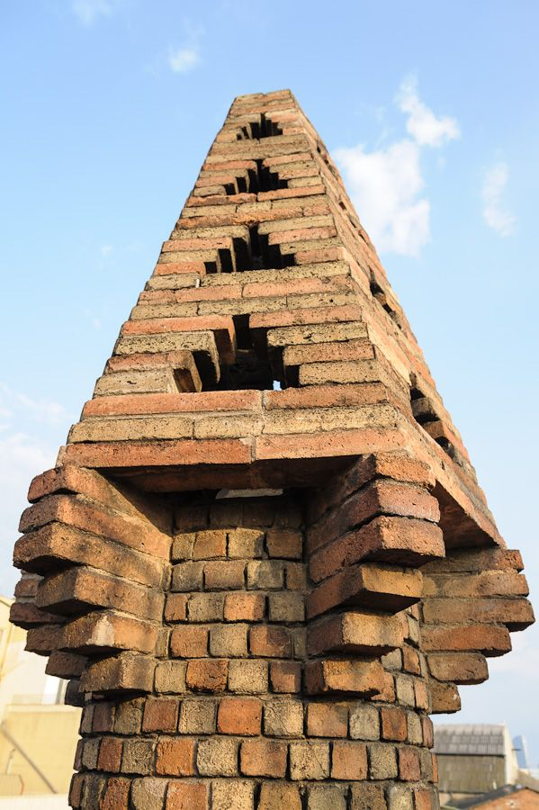 Antoni Gaudi chimney by Frank Cornfield