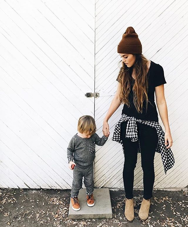 Hold my hand and everything will be ok. That's what I instantly feel when I adventure with my babies.  @marylauren, you make adventuring look like a dream.  Loungewear sets in a new colorway coming soon!