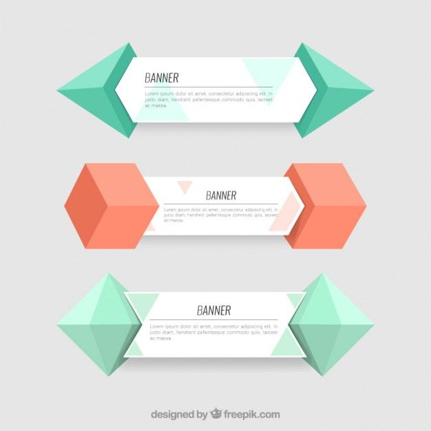 Pin by Derek Colanduno on Infographics Pinterest Geometric form - fresh invitation banner vector