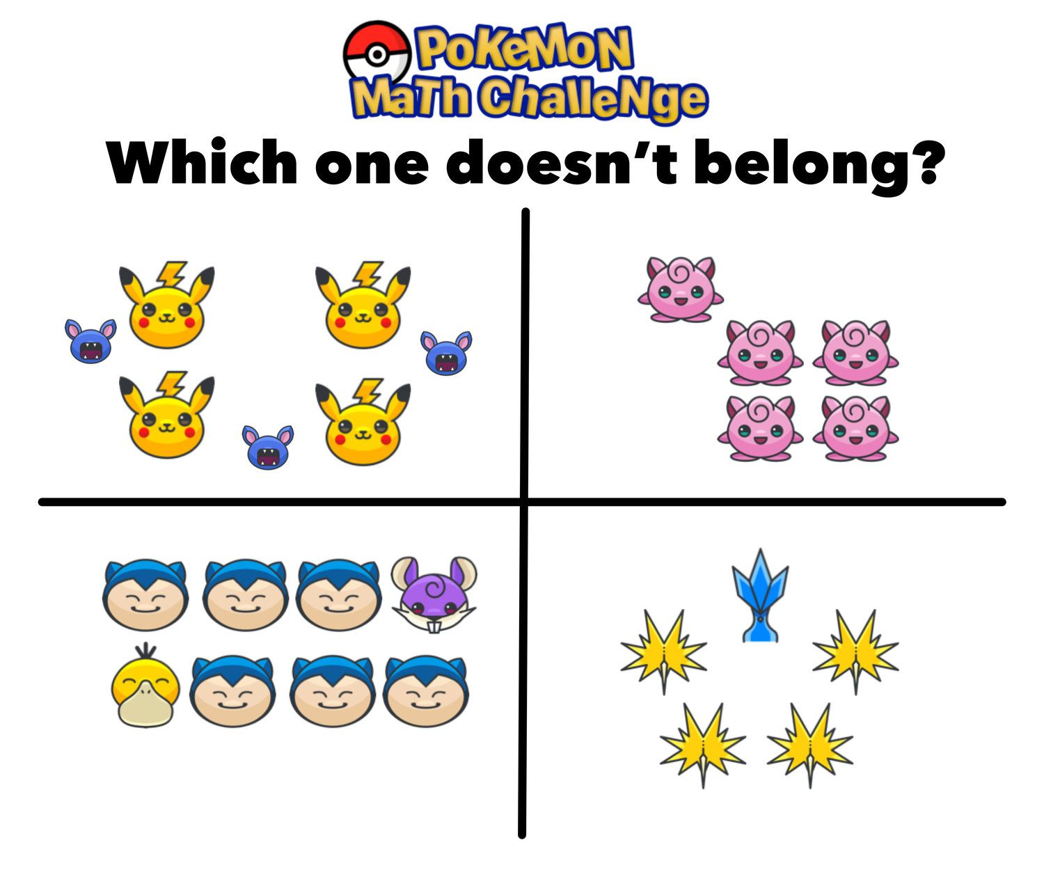 Have You Seen These Free Pokemon Math Puzzles Maths Puzzles Math Math Writing Prompts [ 1250 x 1500 Pixel ]