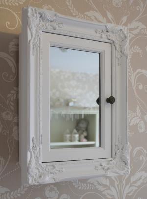 White Ornate Bathroom Cabinet Vintage Bathroom Mirrors White Bathroom Storage Vintage Cupboard